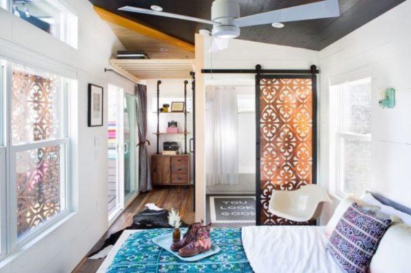 interior kamar tidur rumah kecil