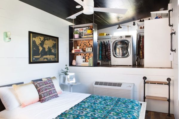 desain kamar tidur, wardrobe, laundry room