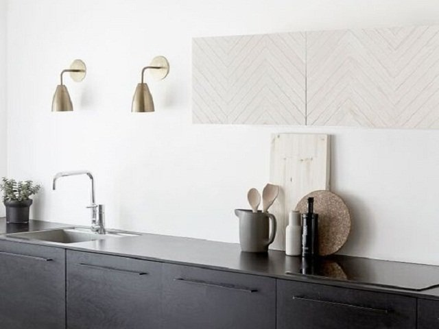 desain dapur monokrom, gaya desain dapur minimalis