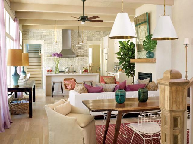 ruang keluarga dan dapur gaya minimalis