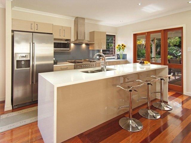 dekorasi dapur, penempatan dan instalasi island