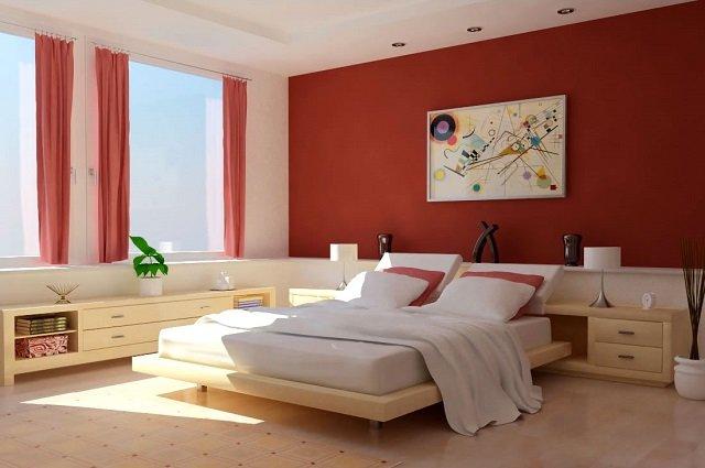rumah idaman; desain kamar tidur utama dengan kombinasi warna netral yang yang menenangkan