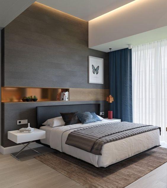 desain langit-langit kamar tidur gaya minimalis