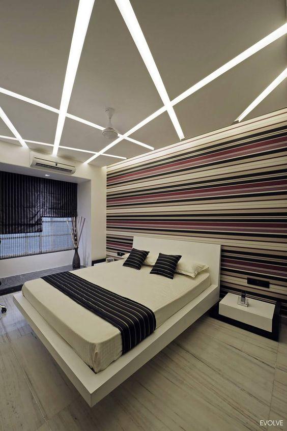 desain langit-langit kamar tidur gaya modern-futuristik