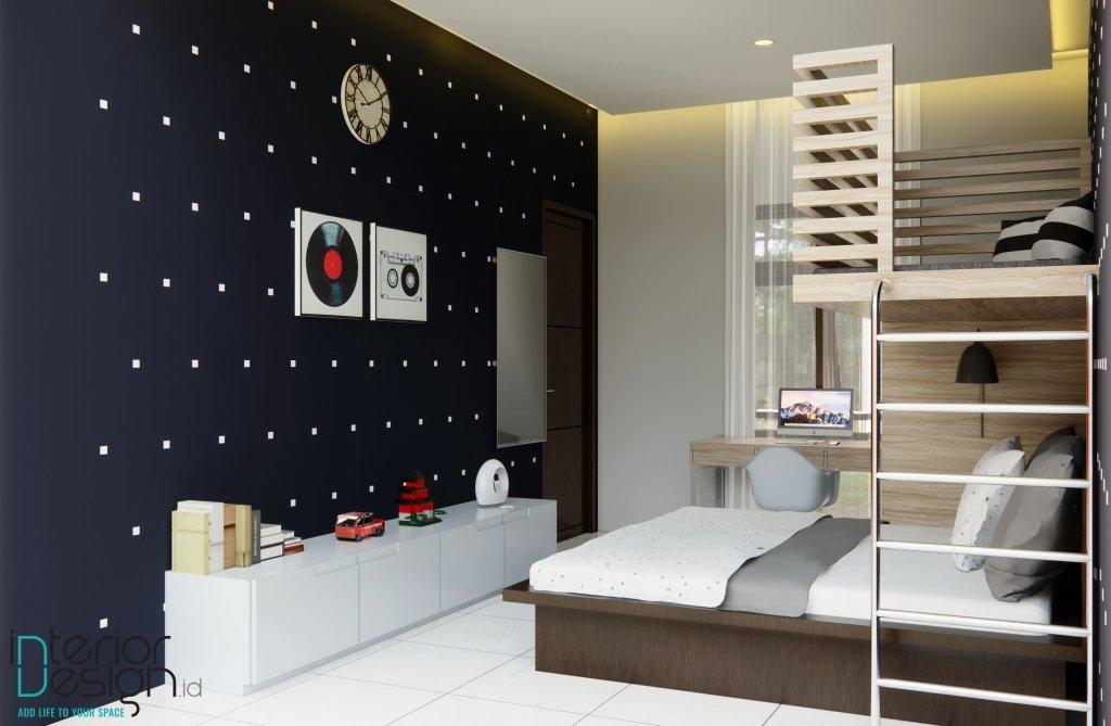 interior kamar tidur gaya kontemporer