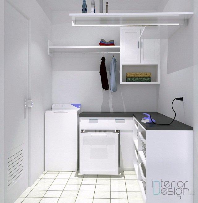 desain ruang binatu minimalis