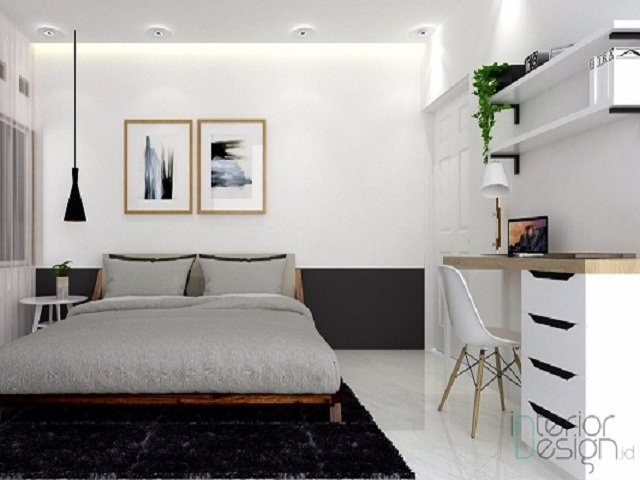Desain Kamar Monokrom Kamar Tidur Putih Hitam Yang Anti