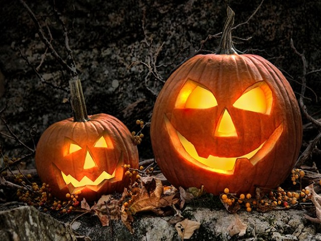 dekorasi interior halloween