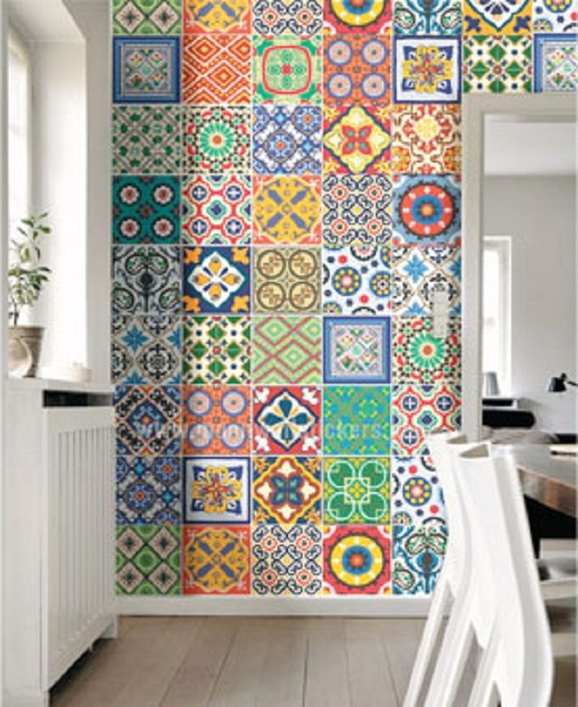 dekorasi lantai tegel