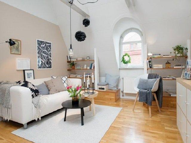desain apartemen skandinavia