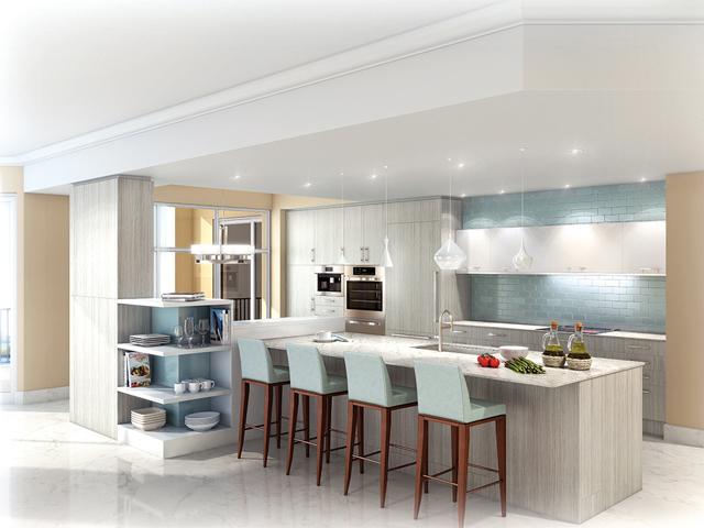 interior dapur minimalis dengan keseimbangan simetris
