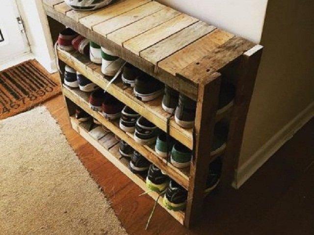 desain rak sepatu unik