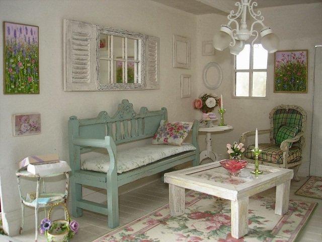 Desain Ruang Tamu Shabby Chic Interior Ruang Tamu Vintage