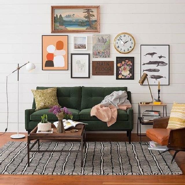 dekorasi ruang tamu bohemian