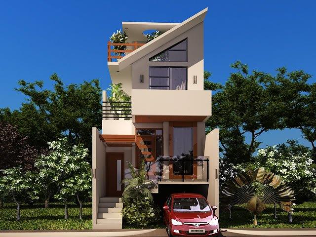 Desain Rumah Minimalis 2 Lantai Modern Idaman Gambar Tingkat