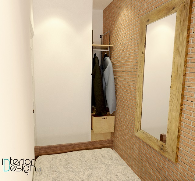 interior kamar tidur mungil