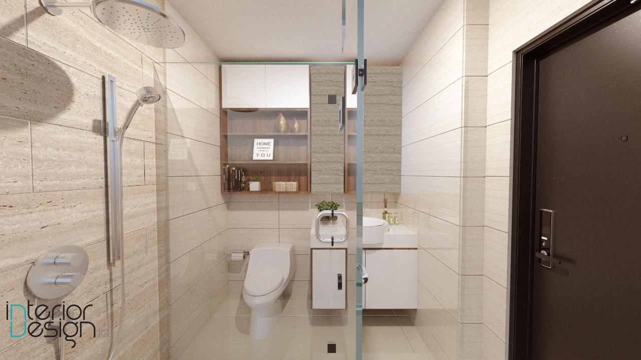 Kamar mandi apartemen tamansari semanggi jakarta for Design apartemen 2 kamar