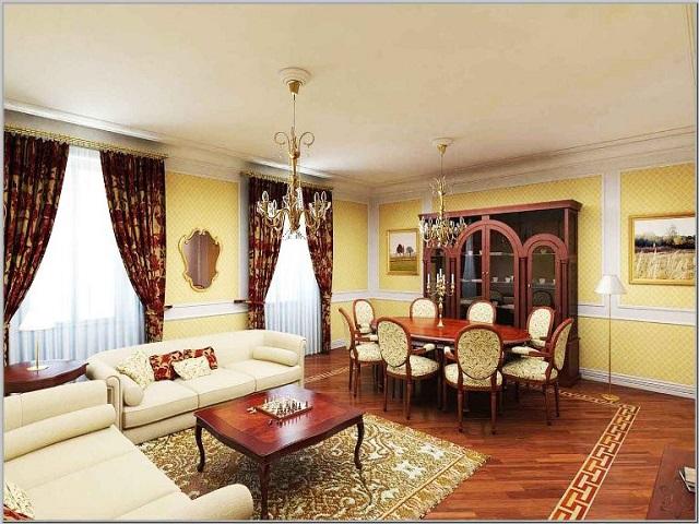 interior ruang keluaraga rumah type 70