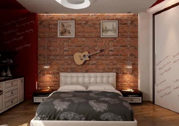 desain kamar tidur industrial