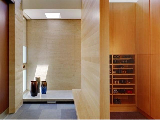 desain foyer minimalis Jepang