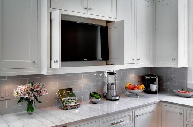 panduan menempatkan tv di dapur