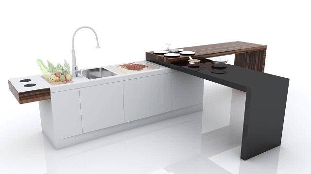 tren teknologi dalam interior dapur; interior dapur canggih