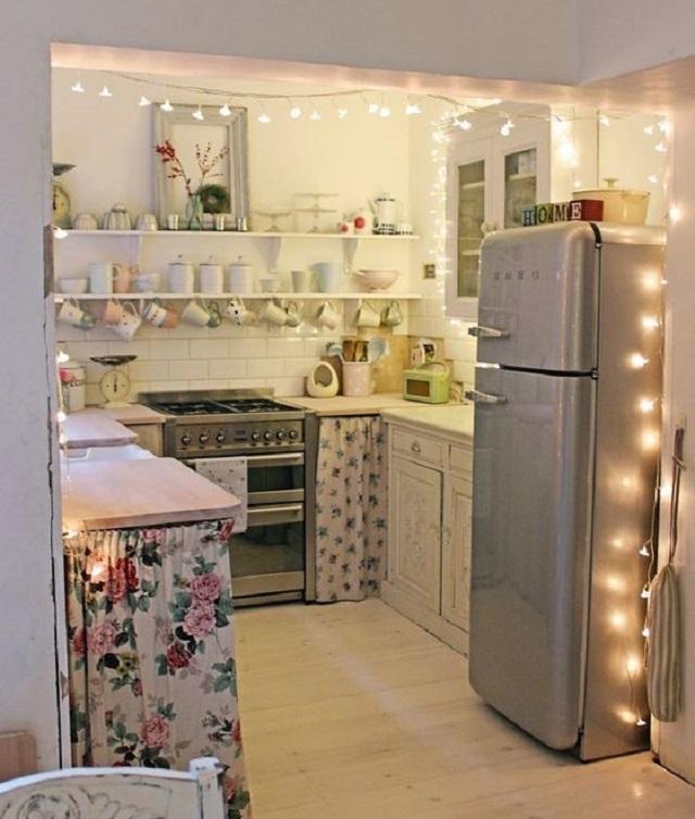 desain dapur shabby chic