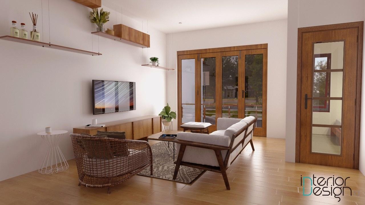 desain ruang tamu japandi