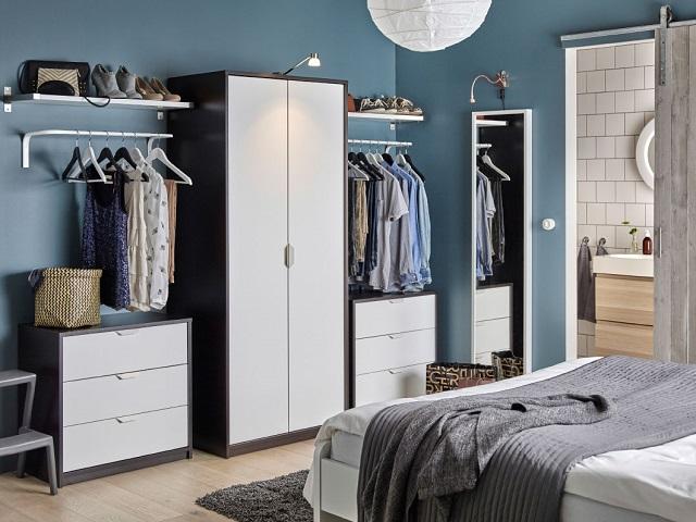desain lemari pakaian skandinavia
