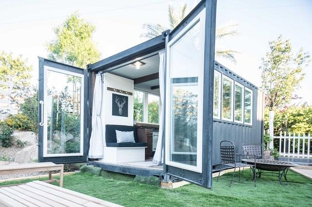 desain rumah kontainer gaya minimalis