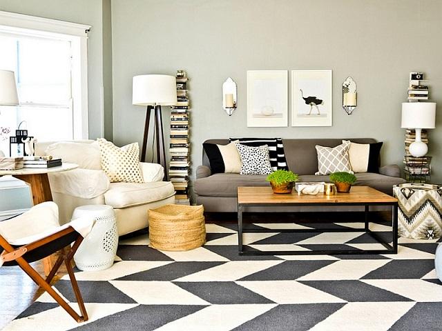 interior geometris apartemen