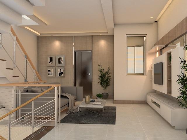 Desain Plafon Ruang Tamu Elemen Interior Yang Menarik Dan
