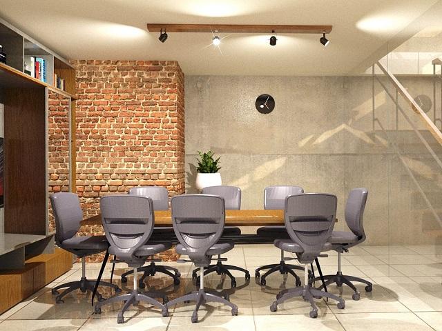 ruang kerja industrial