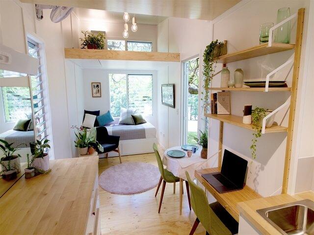 Desain Rumah Kecil Modern Rumah Mungil dengan Gaya Interior Mid