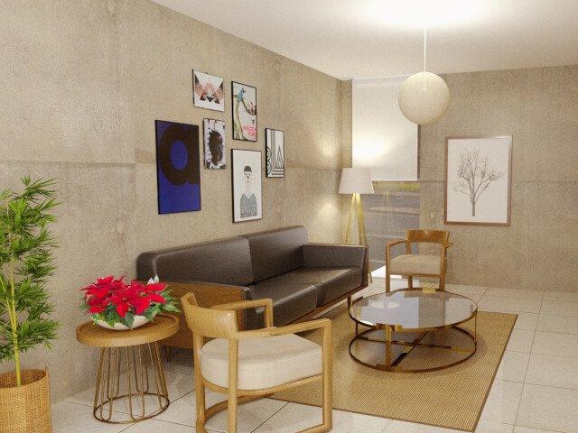 desain interior ruang tamu rumah type 45