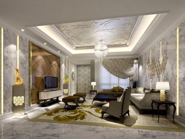 Desain Ruang Tamu Mewah 13 Interior Ruang Tamu Mewah