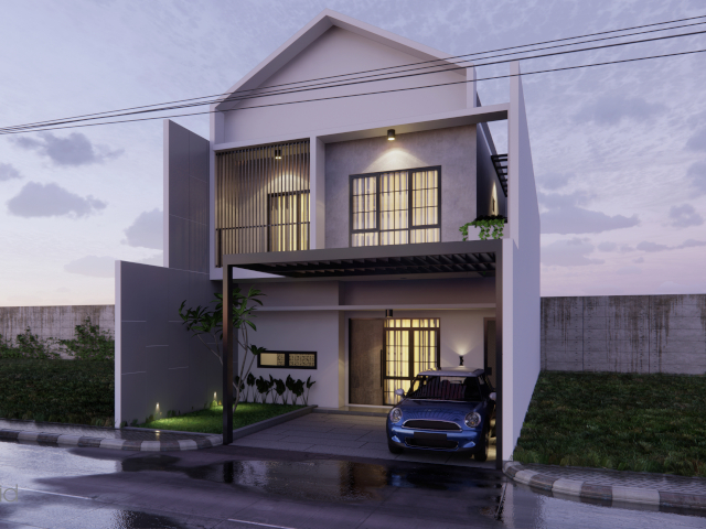 desain facade rumah minimalis modern