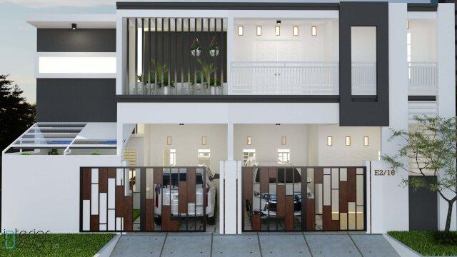 desain facade rumah gaya modern minimalis kontemporer