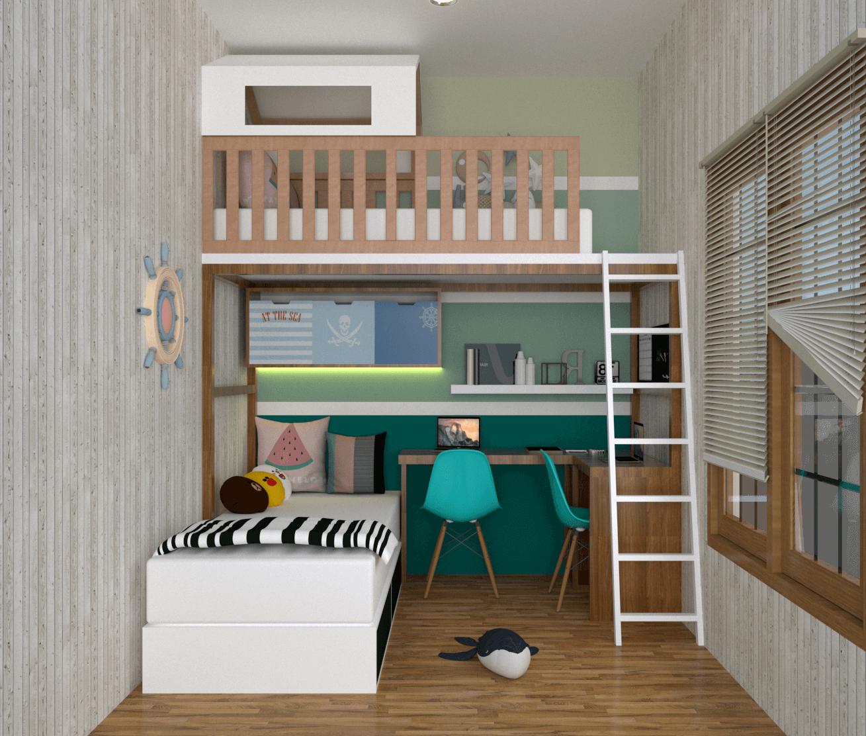 Desain kamar tidur anak gaya modern