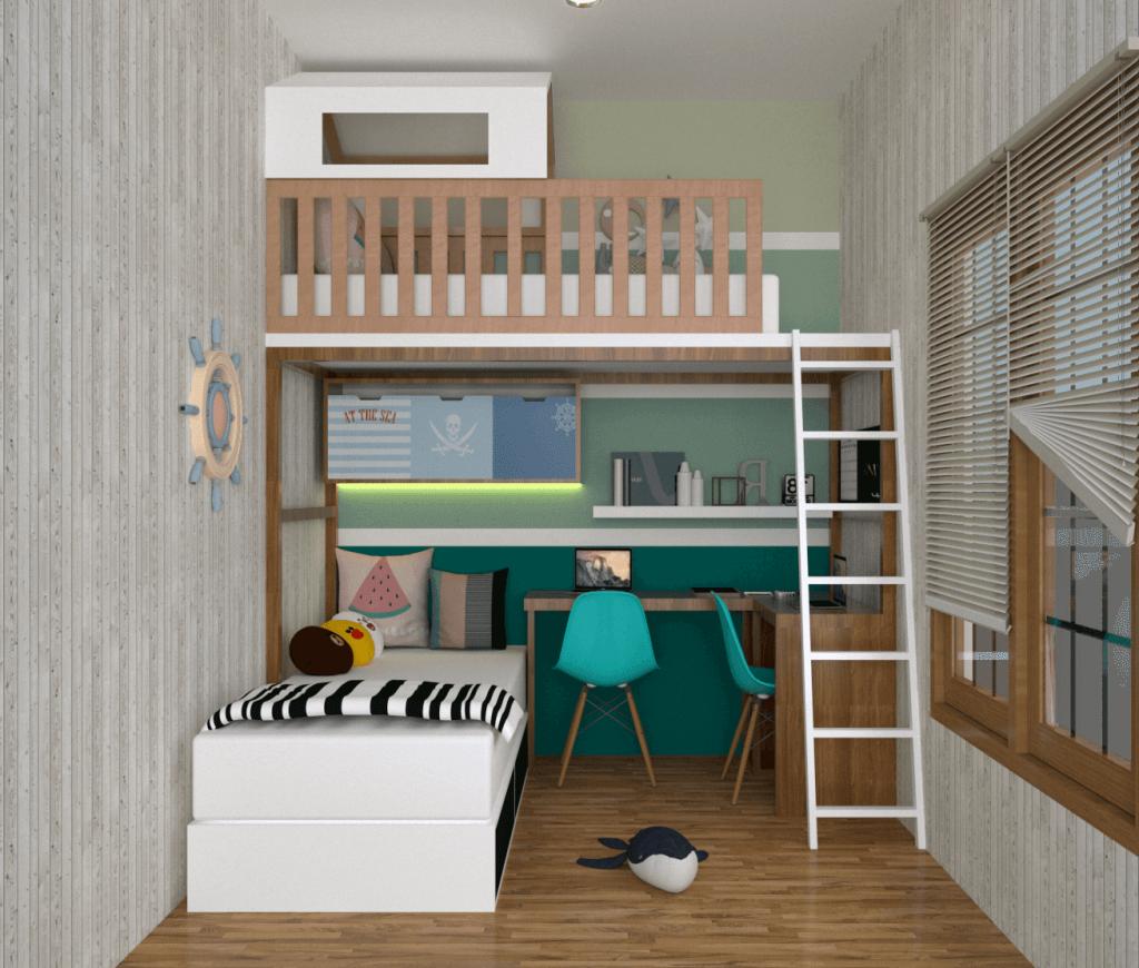 desain kamar tidur anak bekasi