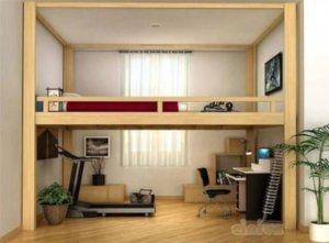 desain kamar tidur di loteng