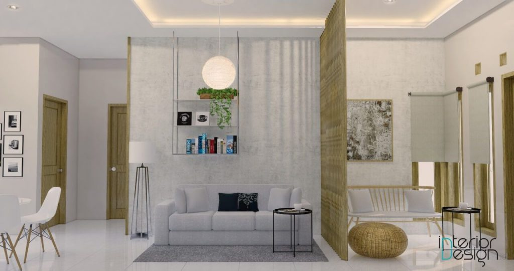 desain ruang tamu, ruang keluarga, ruang makan modern, Malang