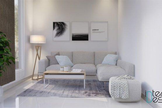 desain ruang tamu skandinavia jakarta
