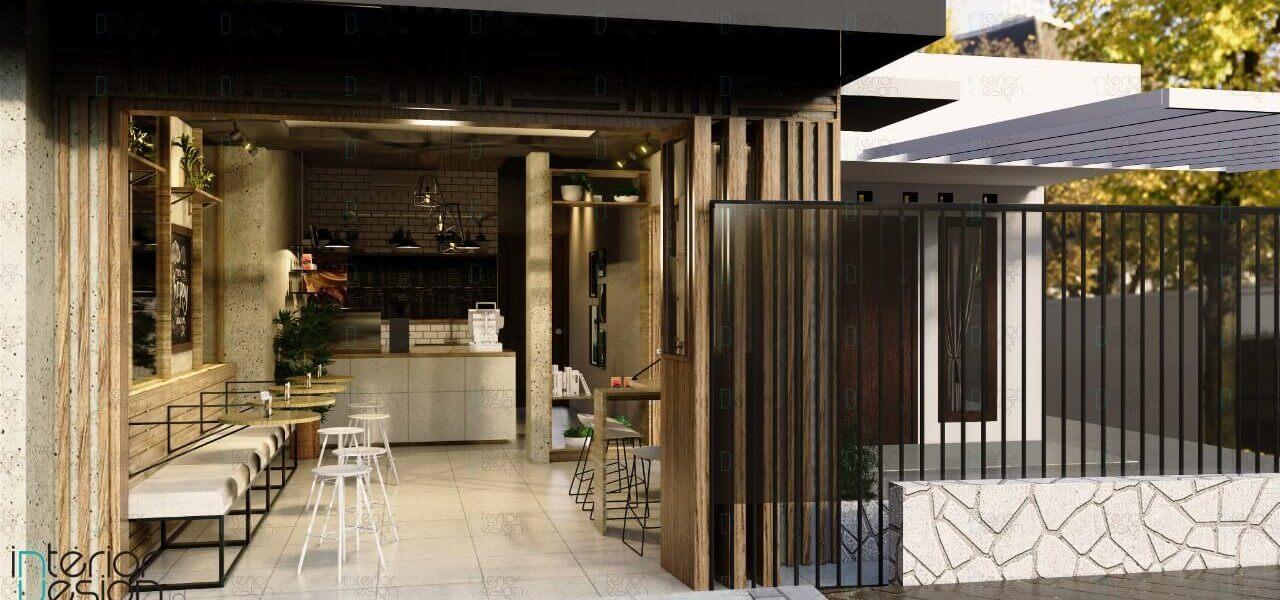 Cafe gaya industrial
