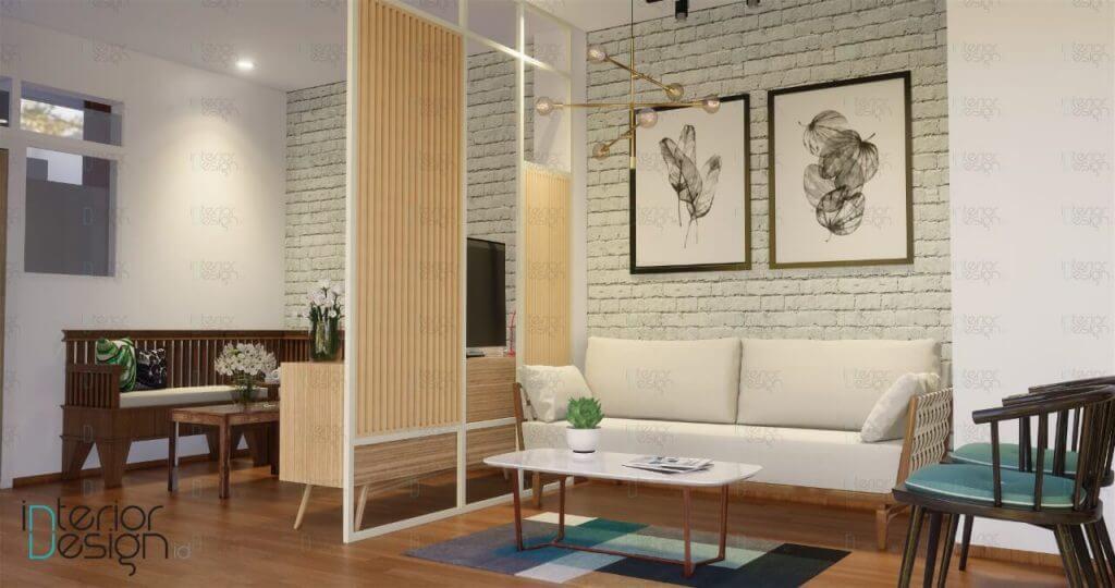 Interior ruang tamu mewah modern