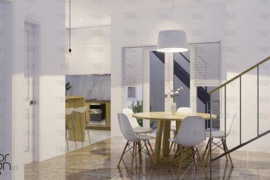Desain ruang makan gaya skandinavia