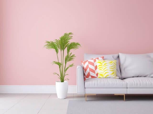 6 Desain Ruang Tamu dengan Sentuhan Warna Pink Pastel yang