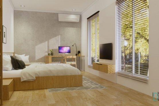 desain kamar tidur gaya modern natural