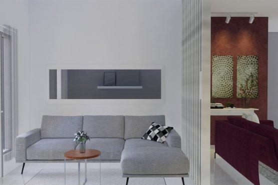 desain ruang tamu skandinavia