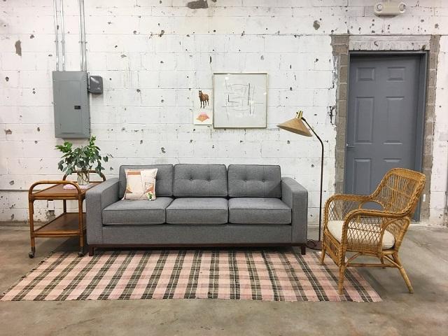 ruang tamu mewah gaya vintage